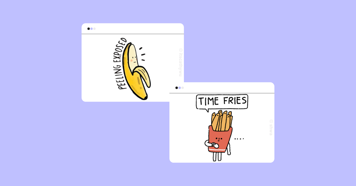 example of punny stickers that gen zers love