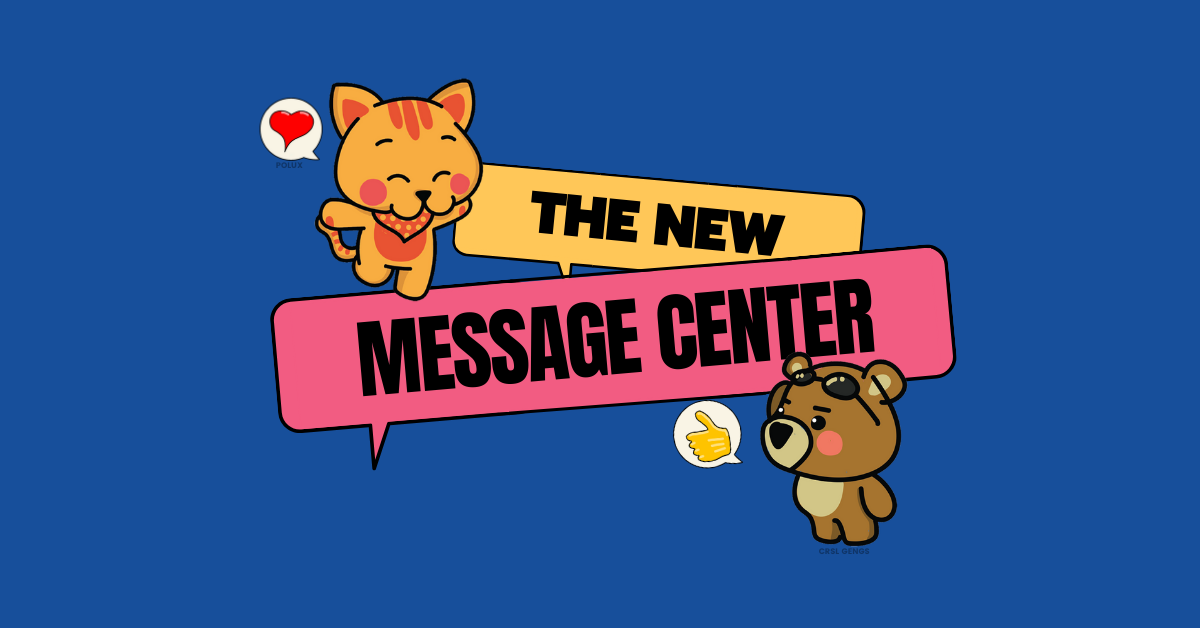 The new message center