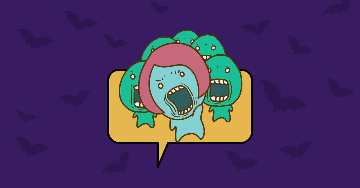 Zombie Halloween sticker pack