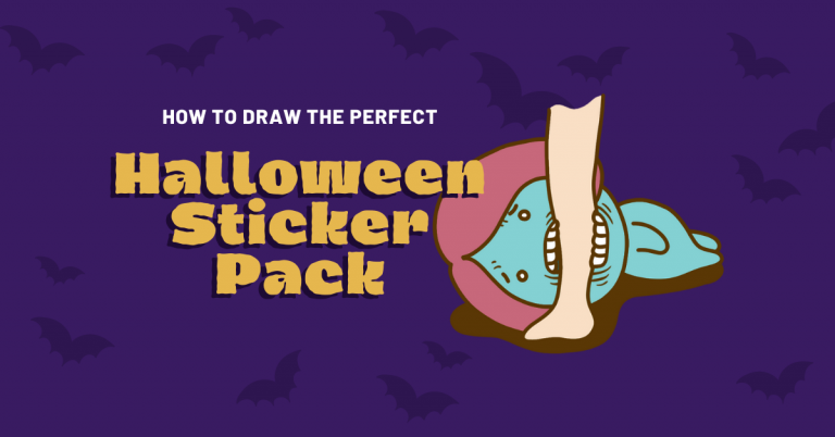 How to draw the perfect Halloween sticker pack